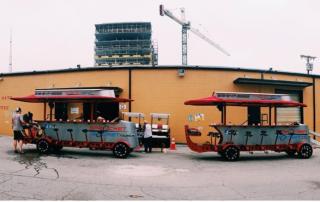 Sprocket Rocket in Nashville has nine pedal pubs manufactured by Pedal Crawler